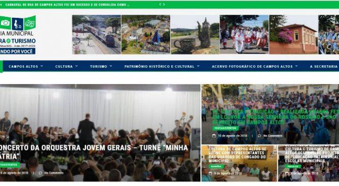 Site exclusivo para Secretaria de Cultura