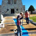 Reforma no Santuário de Campos Altos