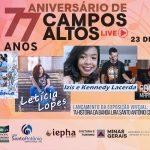 Live em comemoração ao aniversário de Campos Altos